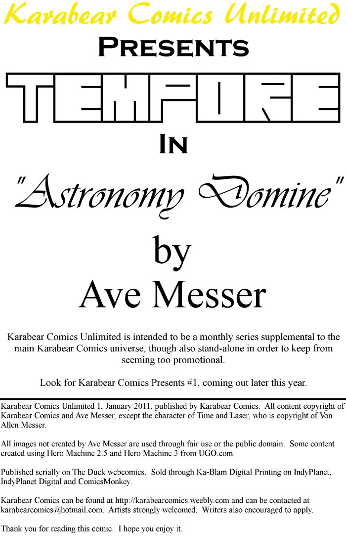 Astronomy Domine title page